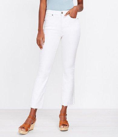 The Fresh Cut High Waist Kick Crop Jean in White