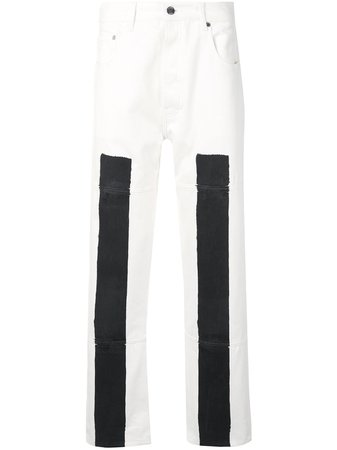 Etudes Pantalon Droit à Empiècements Contrastants - Farfetch
