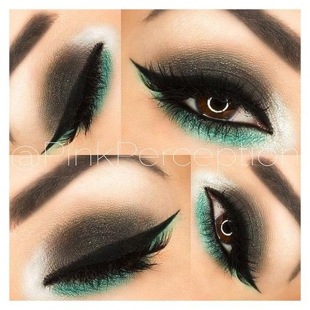 green smokey eye polyvore - Google Search