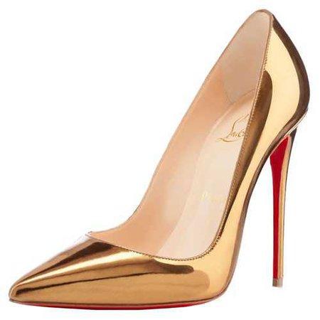 gold louboutin pumps - Google Search