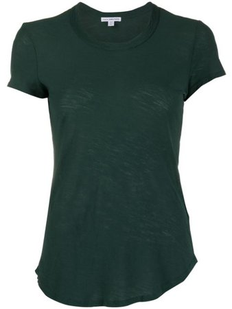 Green James Perse round neck short-sleeved T-shirt WUA3037 - Farfetch