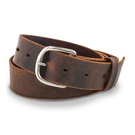"Amazon.com: Hanks Jean Belt - 1.5"" Men's Leather Belt - USA Made, 100-Year Warranty: Sports & Outdoors"
