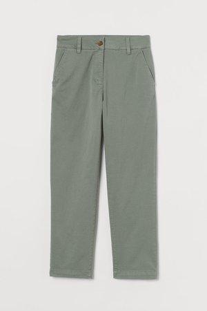 Cotton Twill Chinos - Green