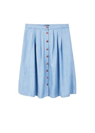 Violeta BY MANGO Buttoned denim skirt
