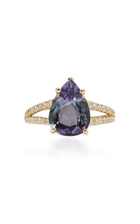 18K Gold, Tanzanite And Diamond Ring by Yi Collection | Moda Operandi