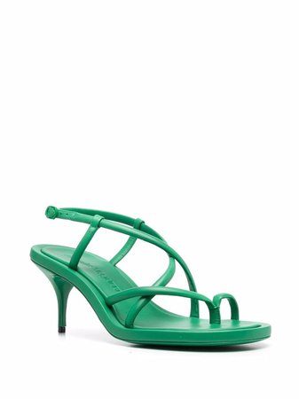 Shop Alexander McQueen toe-loop strappy sandals with Express Delivery - FARFETCH