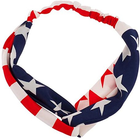 Amazon.com: Lux Accessories American Flag July 4Th Independence Day Red White Blue Knotted Fabric Stretch Headband: Lux Accessories: Jewelry