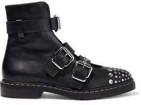 Fate Studded Leather Ankle Boots