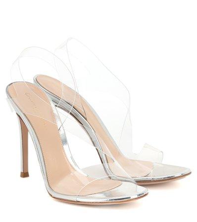 Gianvito Rossi - Metropolis 115 PVC sandals | Mytheresa