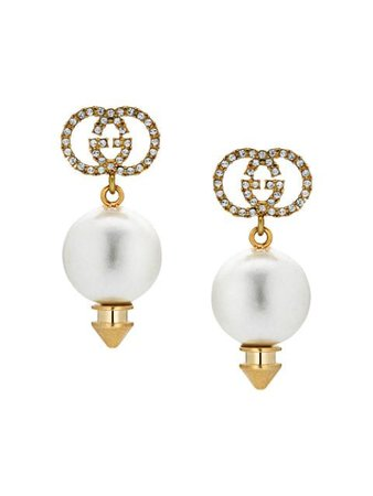 Gucci GG faux pearl earrings $420 - Shop AW19 Online - Fast Delivery, Price