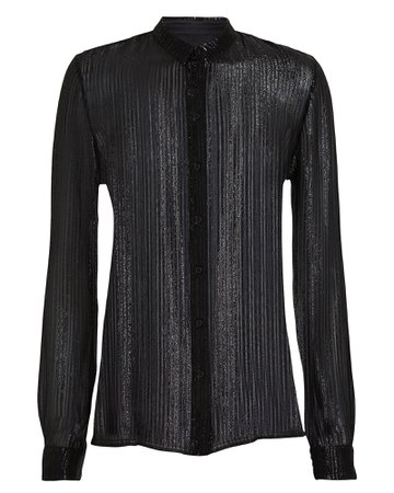 RtA | Blythe Striped Chiffon Shirt | INTERMIX®