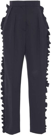 Capsula Cropped Wool Trousers