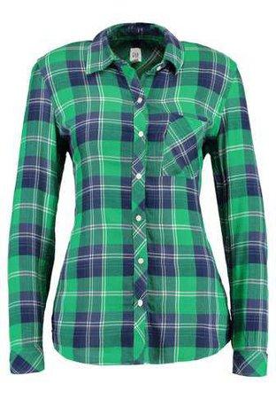 GAP DRAPY PLAID - Women's shirt - green multi - Zalando.co.uk