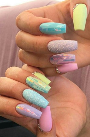 Easter Acrylic Nails