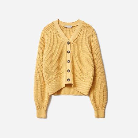 Women's Texture Cotton Cardigan | Everlane yellow