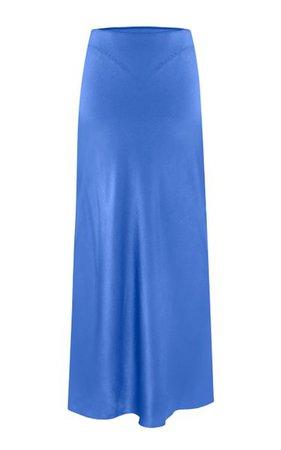 Voleta Satin Midi Skirt By Anna October | Moda Operandi