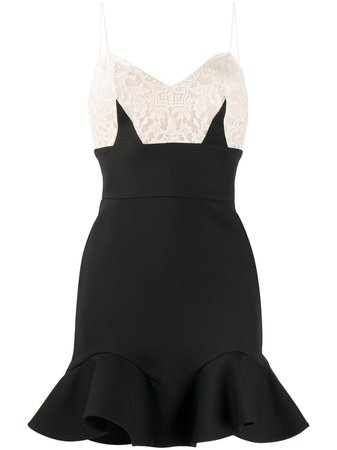 Alexander McQueen Lace Top Fitted Dress - Farfetch