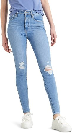 Mile High Ripped High Waist Super Skinny Jeans
