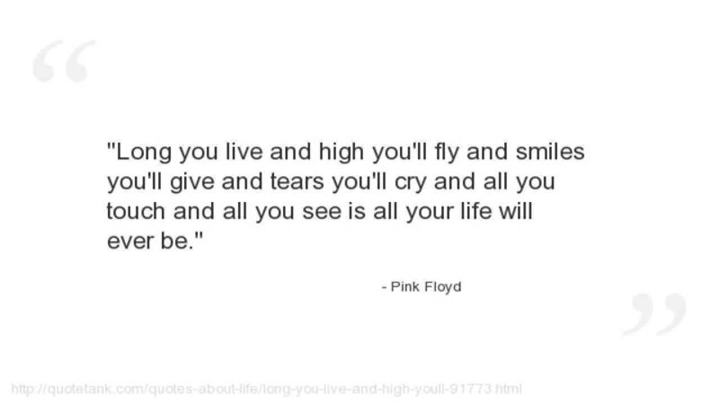Pink Floyd Quote