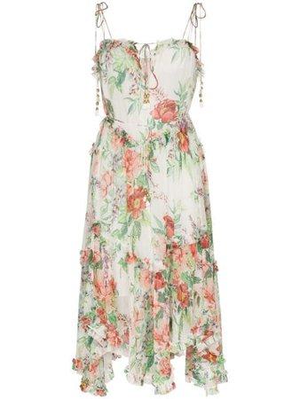Zimmermann Bellitude floral-print Midi Dress - Farfetch
