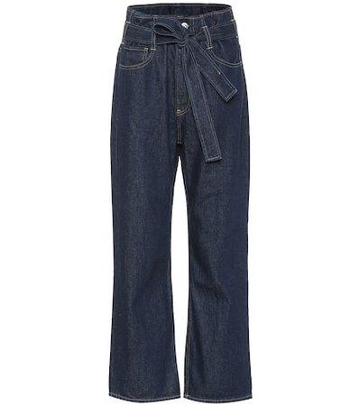 Kelly Paperbag wide-leg jeans