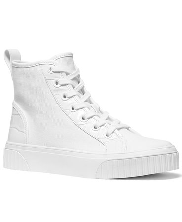 White Michael Kors Gertie High-Top Sneakers & Reviews - Athletic Shoes & Sneakers - Shoes - Macy's