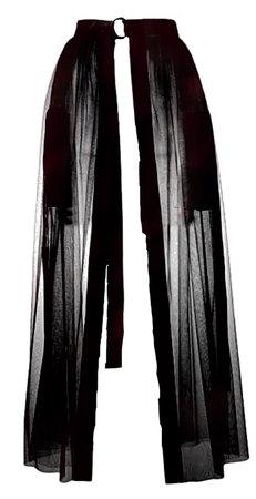 Sheer skirt belt