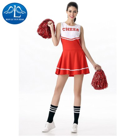 Buy Online MANLUYUNXIAO High School Musical Cheerleader Costume Cheer Uniform Fancy Dress Without Pom Poms Five Colors Wholesale 53 - Special Use Toys Dome 65