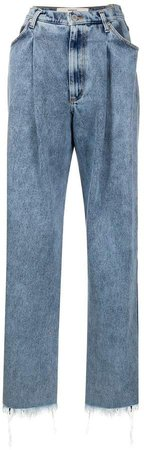 Pleated Waist Jeans