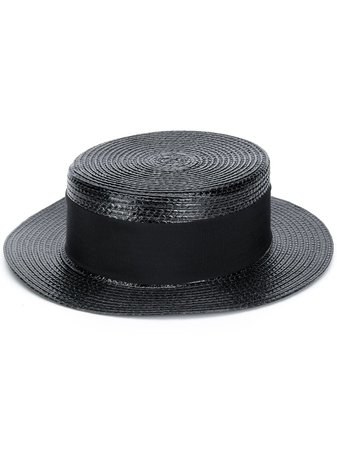 Saint Laurent Small Boater Hat Ss20 | Farfetch.com