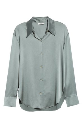 Vince Shaped Collar Silk Blouse | Nordstrom