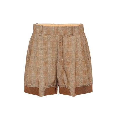 Checked Stretch-Cotton Shorts | Chloé - Mytheresa