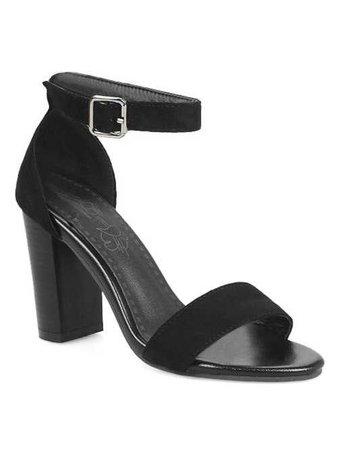 High Heel Party Ankle Strap Sandals in Black 40   Sammydress.com