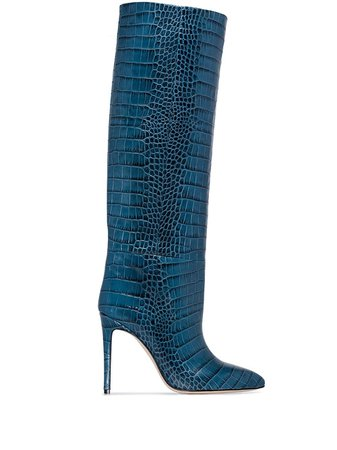 Paris Texas crocodile-effect Boots - Farfetch