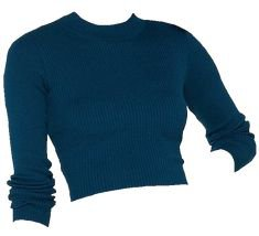 blue crop sweater png edit