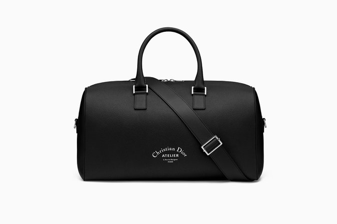 Travel bag in black grained calfskin - Dior