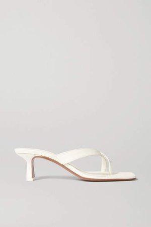 Florae Leather Sandals - Cream