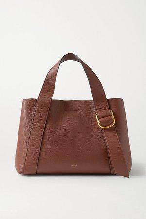 Daria Medium Textured-leather Tote - Brown