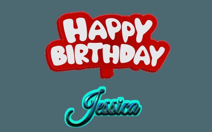 Jessica-Happy-Birthday-Name-Logo.png 1,920×1,200 pixels