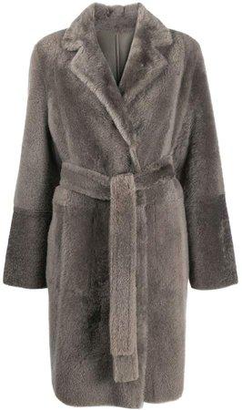 mid-length textured coat