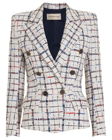 Alexandre Vauthier | Rainbow Check Tweed Blazer | INTERMIX®