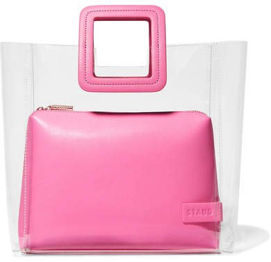 STAUD - Shirley Pvc And Leather Tote - Pink