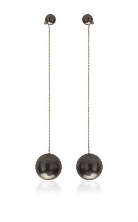 Long Thaiti Pearl & Crystal Earring  Salvatore Ferragamo