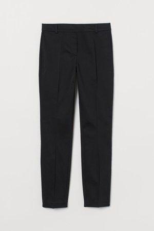 Pantaloni alla caviglia - Nero - DONNA   H&M IT