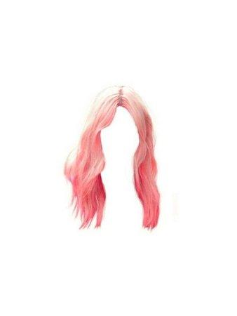 Pink mid length fringe hair