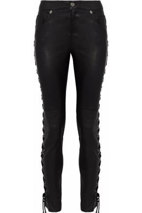 Lace-up leather skinny pants | HAUTE HIPPIE | Sale up to 70% off | THE OUTNET