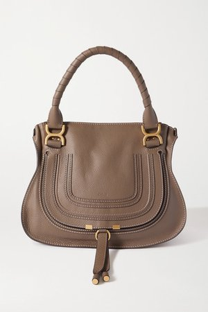 Marcie Medium Textured-leather Tote - Green