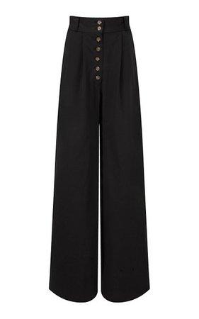 Cotton Twill Wide-Leg Pants By Matthew Bruch   Moda Operandi