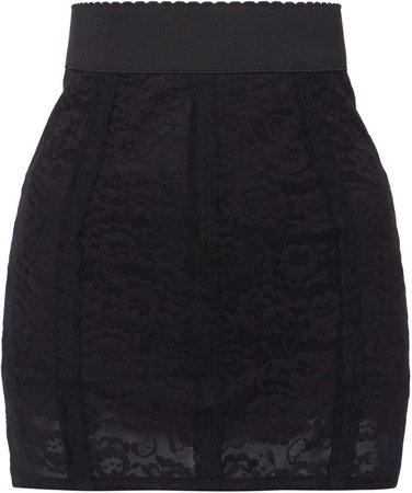 Dolce & Gabbana High-Rise Chiffon Mini Skirt