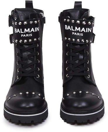 Balmain Paris Chunky Leather Boots